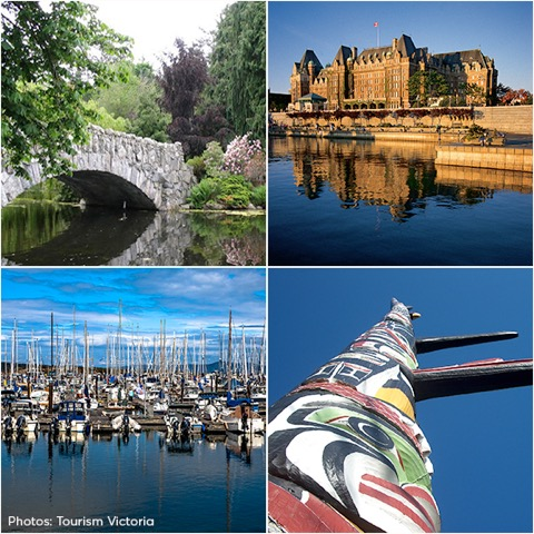 Victoria Landmarks on a GPS Doodle tour with North 48 Bicycles