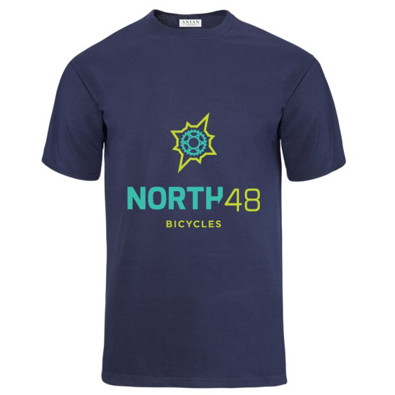 North 48 Bicycles Mens Tee Navy