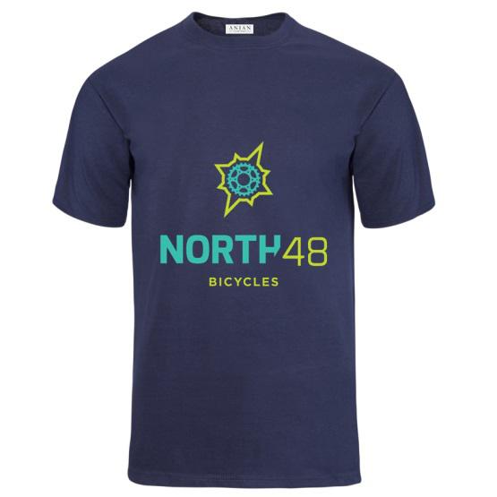 North 48 Bicycles Mens Tee Navy