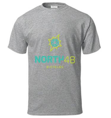 North 48 Bicycles Mens Tee Grey