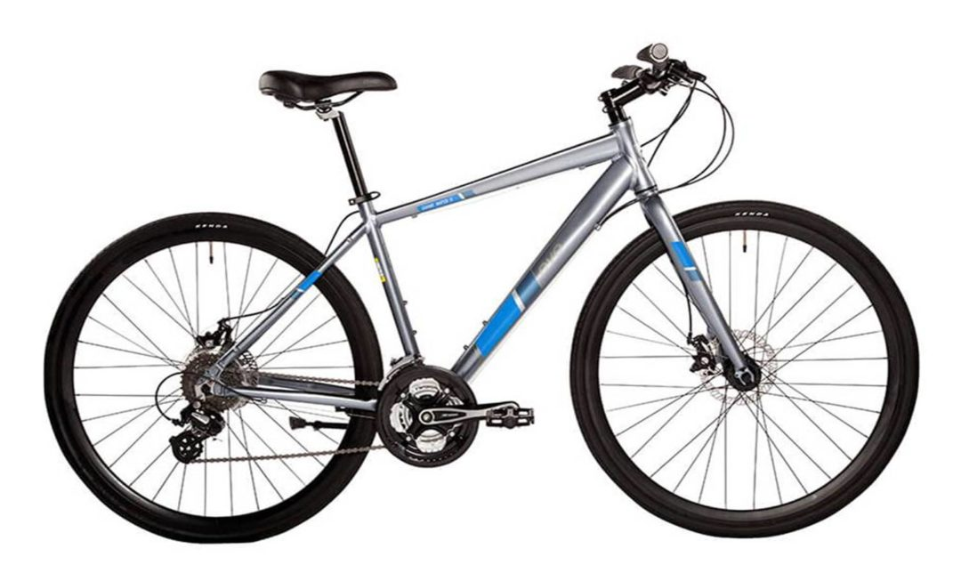 North 48 Bicycles EVO Grand Rapid 5 Hybrid bike rentals for guided city bike tours and rentals Victoria BC Canada. Smooth shifting Shimano 24 speed drivetrains and powerful disc brakes
