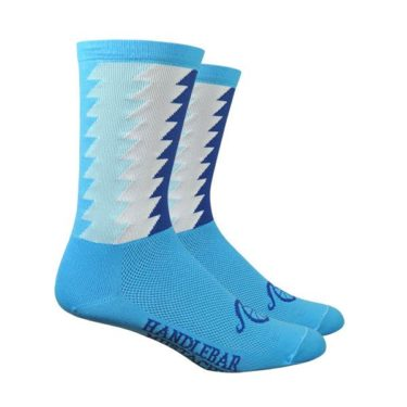 Cycling Socks Handlebar Mustache Timber Blue
