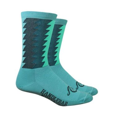 Cycling Socks Handlebar Mustache Timber Green