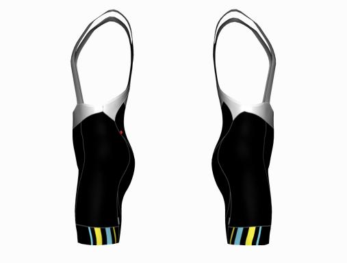 Cycling Bib Shorts Black Solar Pro - side