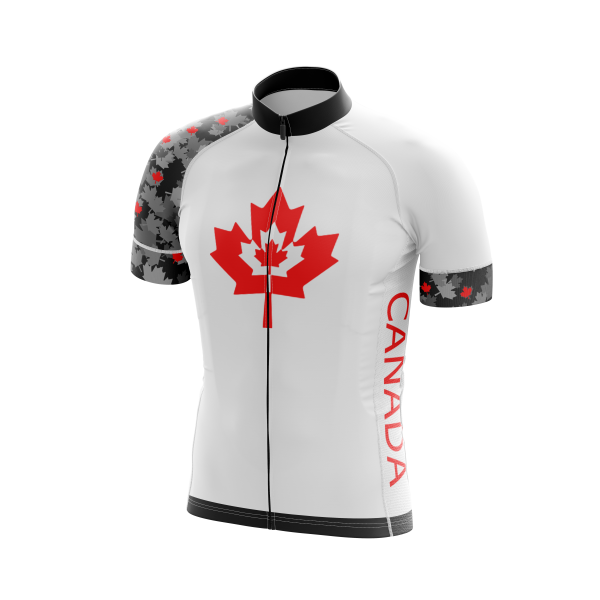 White Canada Cycling Jersey