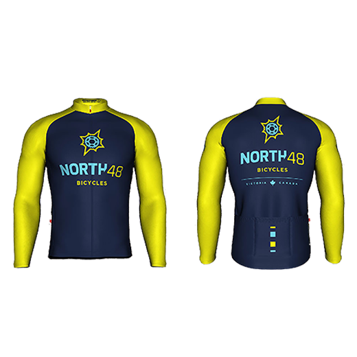 North 48 Bicycles Long Sleeved Cycling Jersey